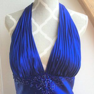 NWT! Dave and Johnny Blue with Bling Long Dress